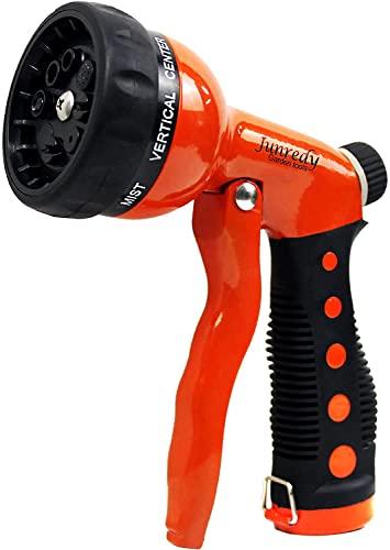 Junredy Garden Hose Nozzle Sprayer Heavy Duty, Metal Water Hose Nozzle...