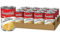 Made with a delicious homestyle blend of seasoned chicken broth, enriched egg noodles and tender chicken meat with no antibiotics Packaged ina non BPA lined, 10.5 ounce recyclable can No artificial flavors, no preservatives Low in fat & cholesterol ...