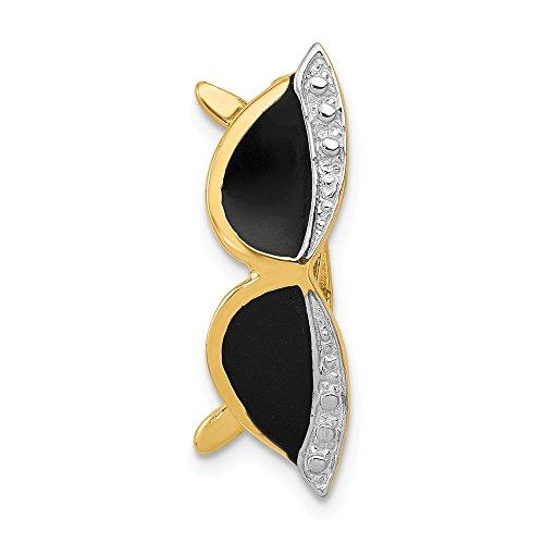 Jewels By Lux 14K emailierten Sonnenbrille Anhänger Folie