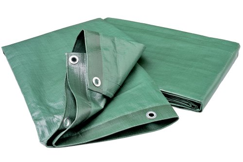 Wolfcraft 5124000 - Cubierta de lona para leña, impermeable, resistente a la rotura y a los rayos UV 6 x 1,5 m