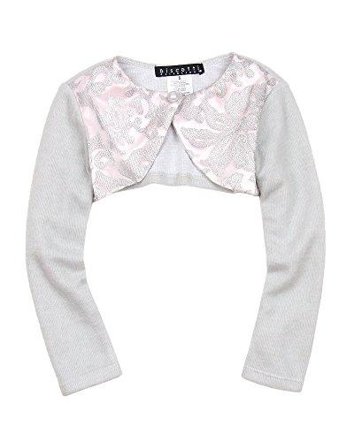 Biscotti Girls' Royal Treatment Silver Knit Shrug, Sizes 5-16 (16)