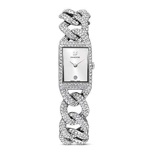 Swarovski Damen-Uhren Analog Quarz One Size Silber 32014285