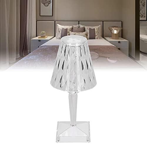 Gaeirt Lámpara de Mesa de Cristal, Colorida lámpara de Escritorio de Cristal de Siete Modos, Peso Ligero Regulable para Amigos para decoración de Dormitorio