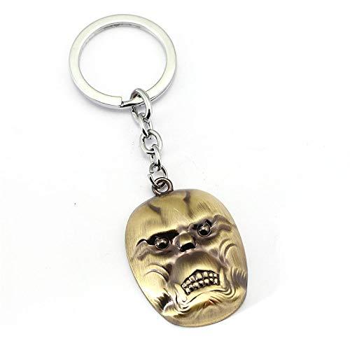 VYZSD Tokyo Ghoul Schlüsselbund Nishiki Nishio Maske Auto Schlüsselanhänger Teenager Schlüsselanhänger Halter Schädel Kopf Anhänger Geschenk, C