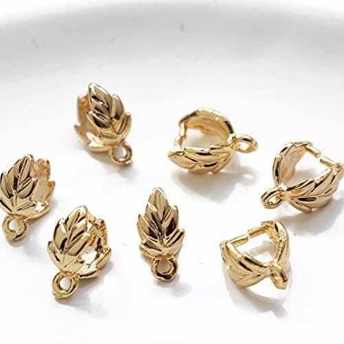 SALAN 10 Uds 18 K Chapado En Oro En Forma De Hoja Hebilla De Semilla De Melón DIY Pulsera Collar como Material De Accesorios De Joyería