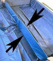 AQUAMON Wasserbett Trennwand Mesamoll II-Vinyl für alle Softside-Wasserbetten 200cm DUAL