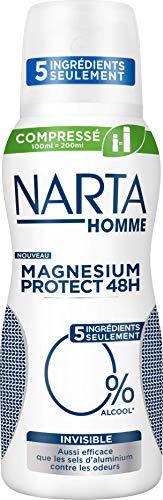 Narta Magnesium Protect Unsichtbar Deodorant für Herren, 100 ml, 3 Stück