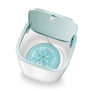 Bsopem - Lavadora de turbinas ultrasónicas mini inalámbrica turbo portátil, con alimentación USB, silenciador para ropa interior de bebé, viajes, caravanas, camping, lavandería
