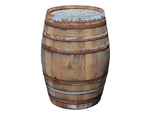 Temesso Barril de Lluvia sin Tapa de 225 litros, barrica rústica como depósito para el Agua de Lluvia (Barril Abierto sin Tapa)