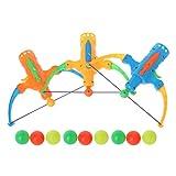 qingqingR Tiro con Arco Tiro de Juguete Flecha Tenis de Mesa Pistola Arco Deportes Tirachinas Caza Juguete Color Aleatorio