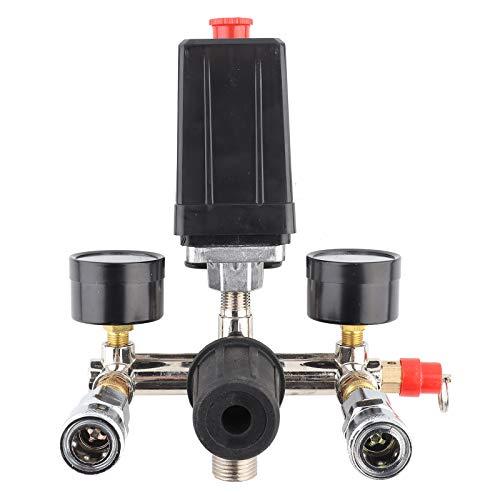 Conjunto de soporte de compresor de aire, válvula de interruptor de control de presión, regulador de colector, válvula reguladora de presión para Bama