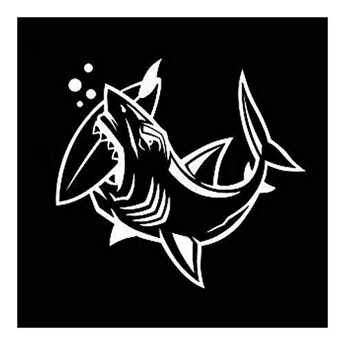 Security Accessory YINGGUICHENG Shop 16.4x15cm individualizado tiburón muerde Tabla de Surf Fish del Coche del Vinilo-Styling engomada del Coche Adhesivos Negro Plata C11-0127 (Color : Silver)