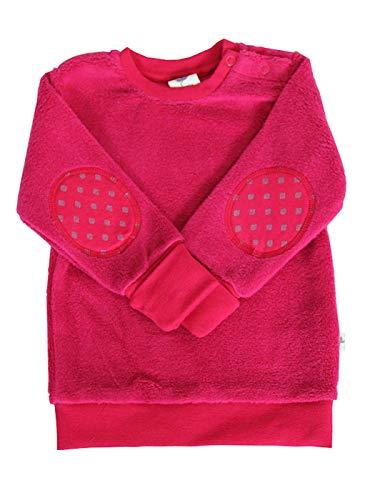 Leela Cotton Baby Kinder Sweatshirt Fleece Bio-Baumwolle GOTS Jungen Mädchen Langarmshirt T-Shirt Gr. 62/68 bis 128 (98/104, rot/persisch)