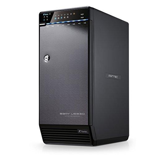 FANTEC QB-X8US3R Box Case per 8x Hard Disk SATA I/II/III da 8,89cm (3,5 pollici), USB 3.0, eSATA, RAID 0/5/10/50/BIG, 2x Ventole con Sensore Termico, XP/Vista/7/8/8.1/10, Mac OS, Linux, Nero