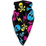 Écharpe unisexe en polyester avec motif tête de mort