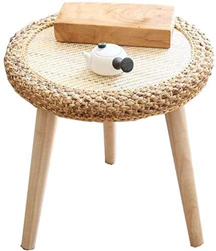 AYHa Mesita, pequeña mesa de mimbre, ratán redonda Mesa de café, hecho a mano, adecuado para la familia, Sala, Oficina, Esquina de mesa en 2 colores,si