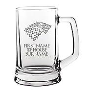 Lapal Dimension (Custom Personalised House Stark Game of Thrones Beer Mug