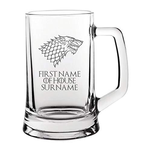 Lapal Dimension - Taza de cerveza personalizada con diseño de casa Stark Juego de Tronos
