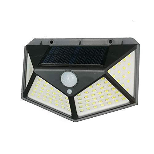 Luminária Energia Solar Parede 100 Led Sensor Presença 3 Funções Lampada