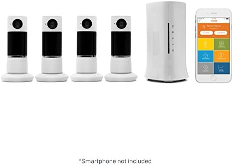 Home8 Video Verified Monitoring Alarm System with Four 4 Twist HD Security Cameras for Home product image