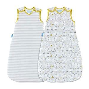 Grobag – Saco de dormir, diseño de elefante blanco Talla:0-6 meses