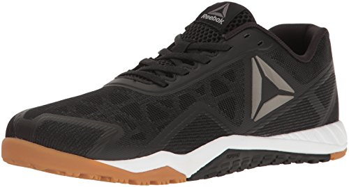 Reebok Men's ROS Workout TR 2.0 Cross-Trainer Shoe, Black/RBK Rubber Gum/Whit, 9.5 M US