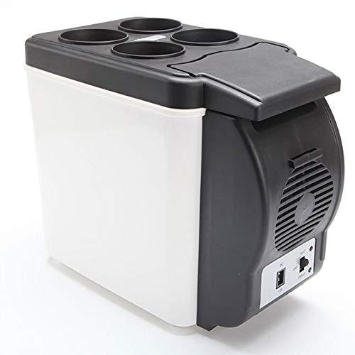 HDZ-ZWJ Refrigerador para autos con capacidad de 6 litros para enfriar o calentar, refrigerado por frío o caliente, enfriador eléctrico para automóviles portátil y frío, caja para refrigeradores DC, p