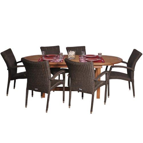 Hot Sale Amazonia Lemans 7-Piece Deluxe Dining Set