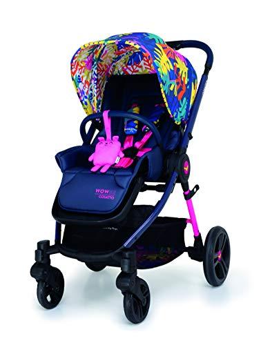 Cosatto Wowee Cochecito de bebé, desde el nacimiento hasta 15 kg, compacto, ligero, sistema de viaje, Club Tropicana, 25 libras