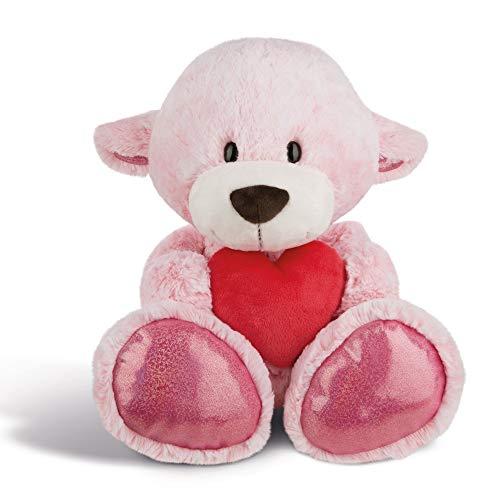 NICI Plüschtier Love Bär Mädchen mit Herz 50 cm – Kuscheltier Teddybär mit Herz für die Liebsten – Flauschiges Teddy-Stofftier zum Kuscheln, Spielen und Schlafen – Gemütliches Schmusetier I 44430