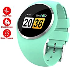 Smart Watch Bluetooth Lady Waterproof Fitness Tracker with Heart Rate Blood Pressure Measurement, Sleep Monitor Smartwatch for Android iOS for Kids Women (Green)