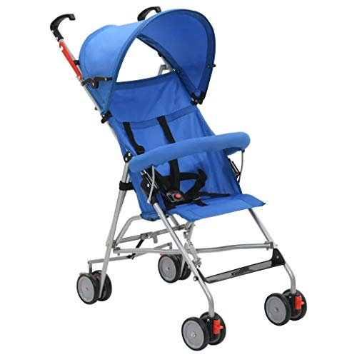 Estink - Silla de paseo plegable de acero, color azul