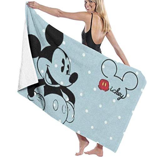 BAOYUAN0 Toalla de baño de Mickey súper Suave de Secado rápido y Muy Absorbente 80*130cm