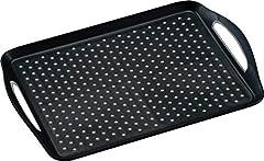 KESPER 77201 aus Kunststoff, schwarz Tablett Frühstückstablett