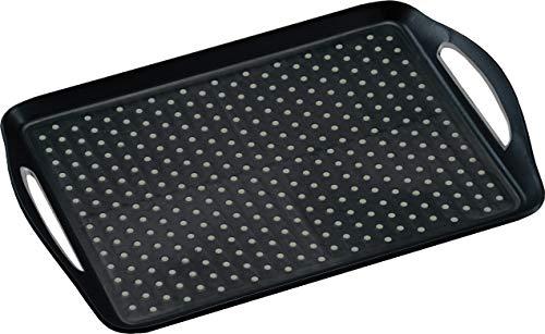 Kesper Tablett, Kunststoff, Schwarz, 45,5 x 32 x 4,5 cm (LxBxH)