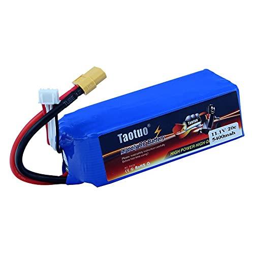 OUYBO Trasporto Libero Elicottero 11.1V 5400mAh 3S 20C XT60 Taotuo Lipo Batteria for V303 V393 CX-20 X380 RC Drone Quadcopter Car Accessori per batterie di Parti RC (Color : Blue)