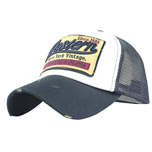 Fulltime® Bonnet d'été brodée Unisexe Casquettes Casual Chapeaux de Baseball Hip hop (Marine)