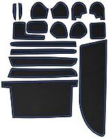 KINMEI(キンメイ) トヨタ エスクァイア Esquire 専用設計 青 インテリア ドアポケット マット ドリンクホルダー 滑り止め ノンスリップ 収納スペース保護 ゴムマット TOYOTAk-42