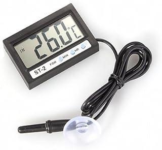 TOOGOO(R) Termometro LCD Digital Temperatura Sonda Sensor Reloj Coche