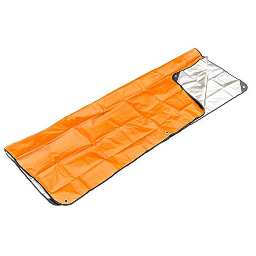 Kongqiabona-UK Nouveau en Plein Air Premiers Soins Couverture d'urgence Sac De Couchage d'urgence Isolation Réfléchissant Orange Aluminisé Film