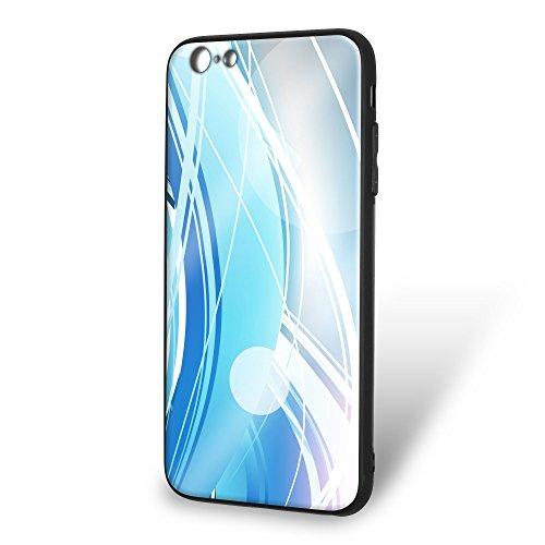 ホワイトナッツ iPhone6s Plus ケース ガラス プリント TPU パターンE (wn-131) スマホケース カバー ラインエフェクト WN-PR389355