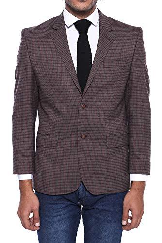 Wessi 4 Tropfen Gemustert Cashe Blazer Business Suit Jacket, Marrón, 54 Mens