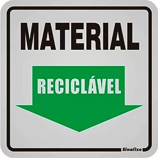 Placa Sinalizadora Auto-Adesiva Material Reciclável 12x12cm Sinalize 90035