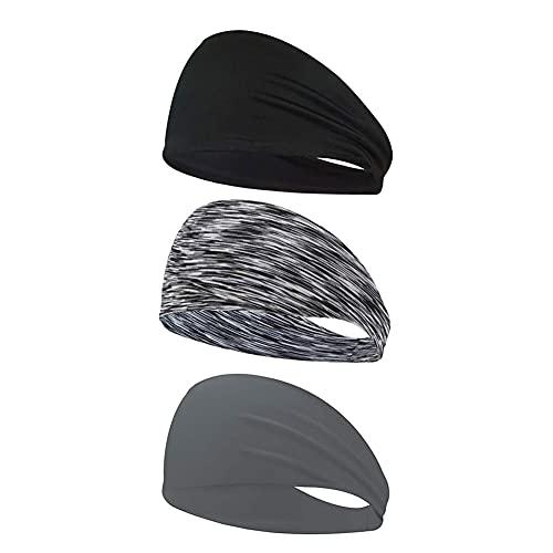 Deportes Banda Asombrosamente Fitness Transpirable Banda De Sudor Unisex Elástico Hairband Atlética para El Ciclismo 3pcs Pesca Que Abarca Yoga
