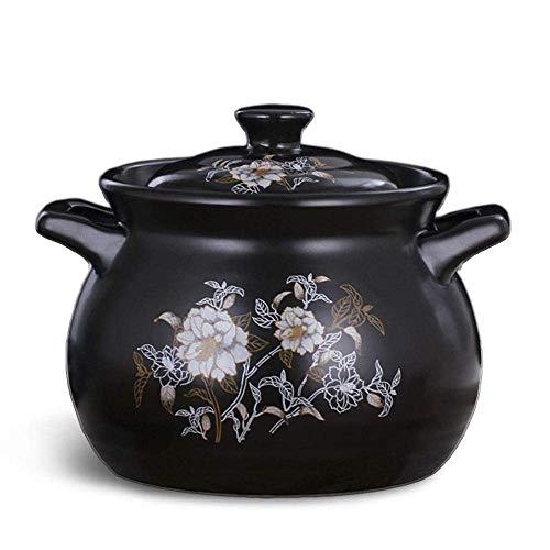 HaoLi Pot à ragoût en Terre Cuite Casserole en Argile Casserole en céramique Casserole en Argile - Conduction de Chaleur Rapide même Chauffage Durable (Couleur: -, Taille: -)