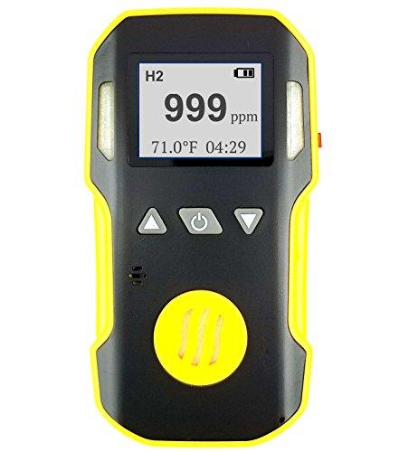 FORENSICS Wasserstoff H2-Gas-Detektor, Meter & Analyzer | Ton, Licht und Vibration Alarm | 0-1000 ppm