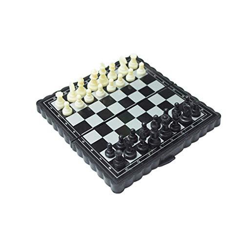 ZNZN Ajedrez Magnética Viaje Juego de ajedrez portátil Mini tamaño de Viaje-Viajes magnético Tablero de ajedrez for los niños Conveniente for ajedrez para