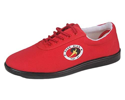 Zapatos De Tai Chi Zapatillas Los Deportes para Taichi Kunfú Y Yoga Los Hombres Rojo 41 EU