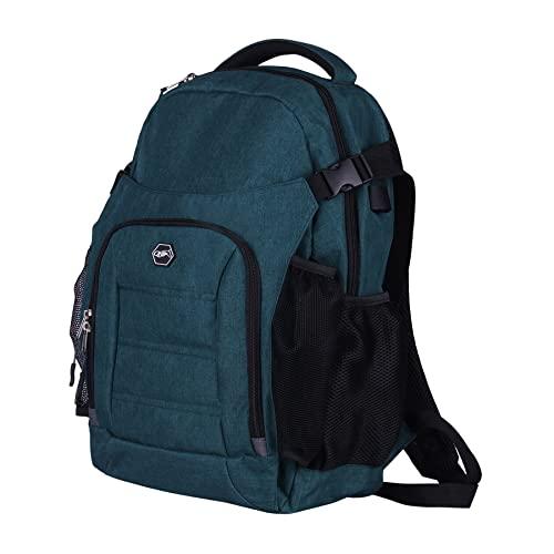 QHP praktischer Rucksack für den Reiter oder als Putzrucksack mit vielen Verstaumöglichkeiten (Dunkelgrün)