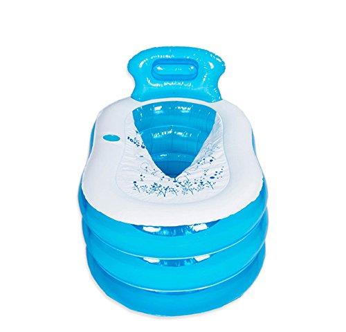 Piscine pour enfants Baignoire en plastique gonflable adulte épaissie Accueil ( Couleur : Bleu , taille : S )
